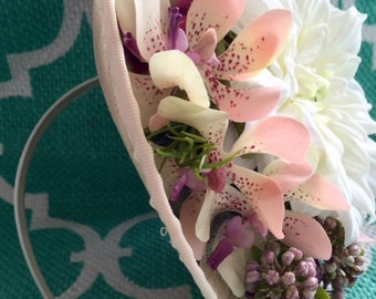 JESSICA lilac and pastel fascinator