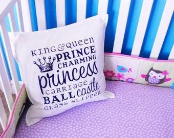 Little girl Princess pillow cover 20x20