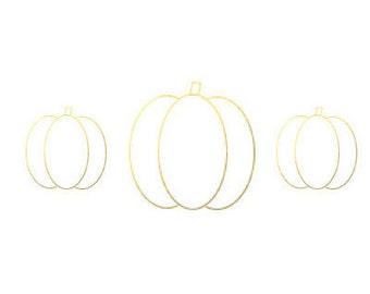 Gold Foil Pumpkin Halloween Card - Digital Printable