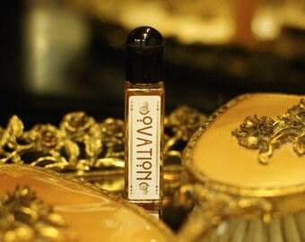 OVATION  natural perfume oil - Moroccan Rose, Palo Santo, Amber, Cardamom - botanical perfume - organic perfume by theater potion
