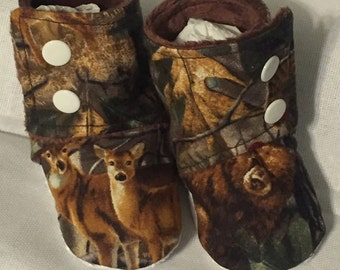 Baby Booties Stay on Booties Camo Hunting
