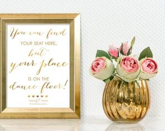 Custom Printable Wedding Reception - Dance Floor Sign