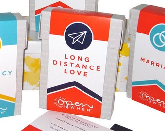 Long Distance Relationship Gift,  20 Open When Letters, Love or Anniversary Gift for your Husband, Wife, Partner, Boyfriend or Girlfriend!