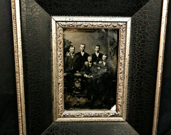 SALE Framed Tin Type Photo of Brothers