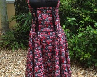 The Walking Dead Cosplay Lolita Dress Walking Dead Skater Dress Comic Con Reversible Bike Dress Size Medium to Large