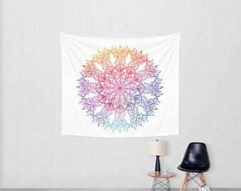 Boho Wall Tapestry. Colourful Mandala. Mandala Tapestry. Bohemian Tapestry. Wall Hanging Tapestry. Boho Home Decor. For Her.