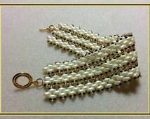 Beading pattern instructions, beading tutorials and patterns, beaded bracelet patterns, superduo bead patterns, DIY jewelry & beading, PDF