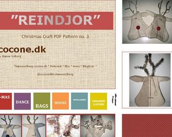 REINDJOR reindeer PDF-pattern Christmas