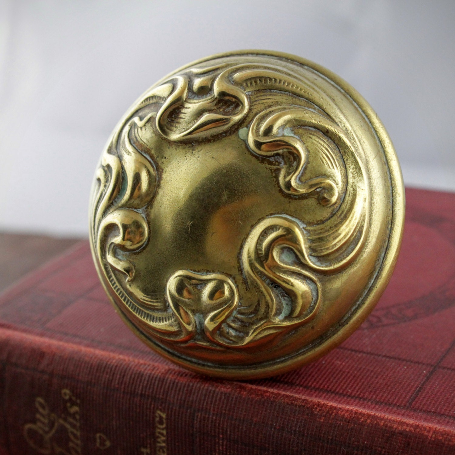 art nouveau door knob antique brass door handle vintage
