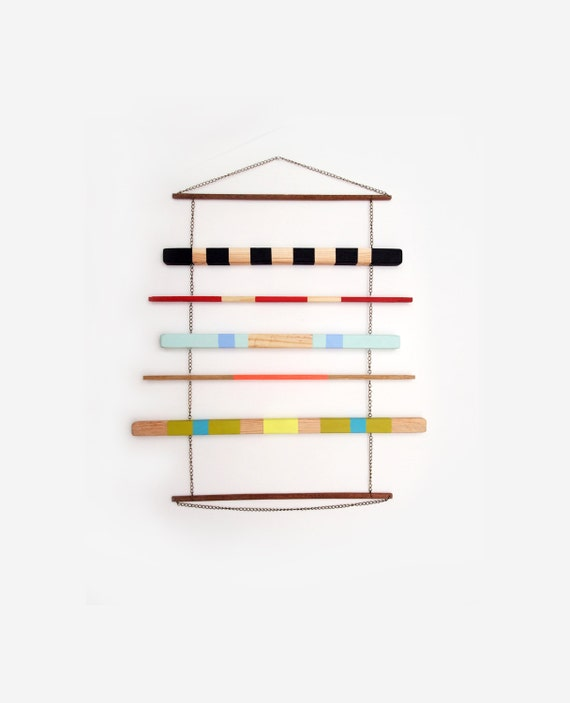 Geometric Wall Hanging Mobile Colorful Art Object Home Decor