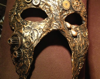 Steampunk mask, masked ball mask, wall art,