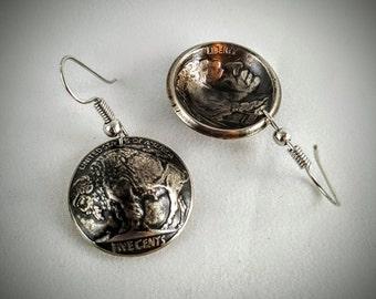 Buffalo Nickel or Indian Head Earrings
