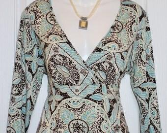 Rayon Top, Shirt by Bandolino, Size L