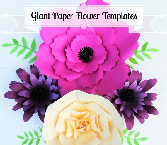 Giant flower templates giant paper flower wall wedding for Giant paper flower template free