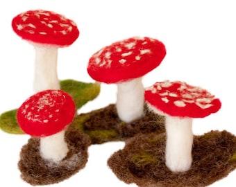 mushroom, mushroom, handmade, OOAK soft sculpture