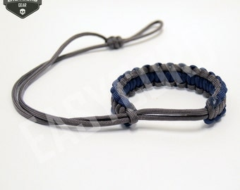 EASYCORD NEW 2016 Paracord Camera Wrist Strap Navy Blue and Charcoal Grey