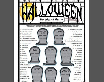 decades of horror halloween movie trivia game horror movie trivia - Halloween Horror Movie Trivia