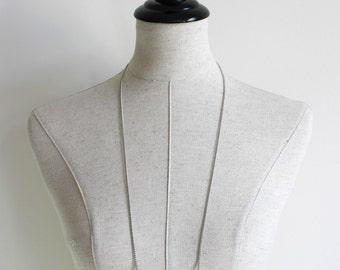 Silver Long Pendant Necklace