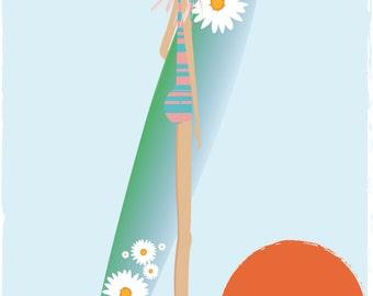 Poster Surfer Girl, 50x70cm