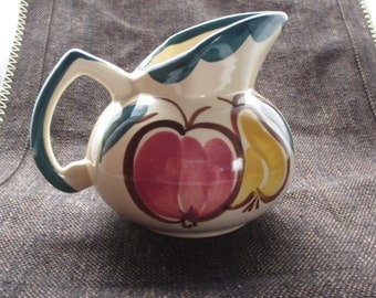 Apple and Pear Ceramic Pitcher