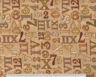 Timeless - BTY - Numbers - Quilting Treasures