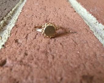 Blank Circle Shaped 10k Gold Ring