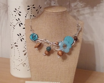 Blue forest necklace