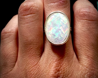 Angel Aura Faceted Silver Ring