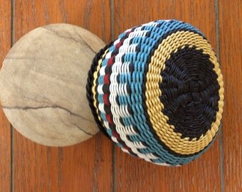 Mini by Twisted Spokes : Hand Woven Basket, Twined Basket