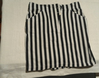 Skirt in  blue and White stripes Iceberg Company