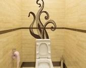 Octopus Wall Decals Bathroom Decor Sea Ocean Animals Tentacles Vinyl Sticker Bedroom Decor for Home T45