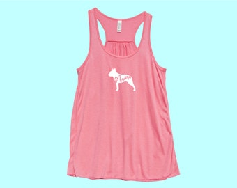 "Boston Terrier ""MAMA"" - Fit or Flowy Tank"