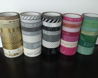 "18""/6"" SAMPLES of Heidi swapp washi tape (HS01)"