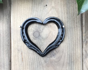 Hand forged Horseshoe Heart - PAINTED