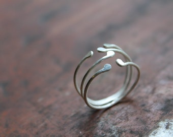 Anemone Ring : Sterling Silver, Adjustable