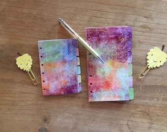 Shabby Autumn planner dividers. Fall dividers available in pocket, personal, A5 and happy planner size. Watercolor