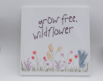 Wildflower Stitched Canvas
