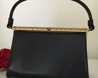 50's Classic Black Anytime Handbag