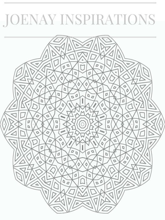 Adult Coloring Book, Printable Coloring Pages, Coloring Pages, Coloring Book for Adults, Instant Download Magnificent Mandalas 2 page 10
