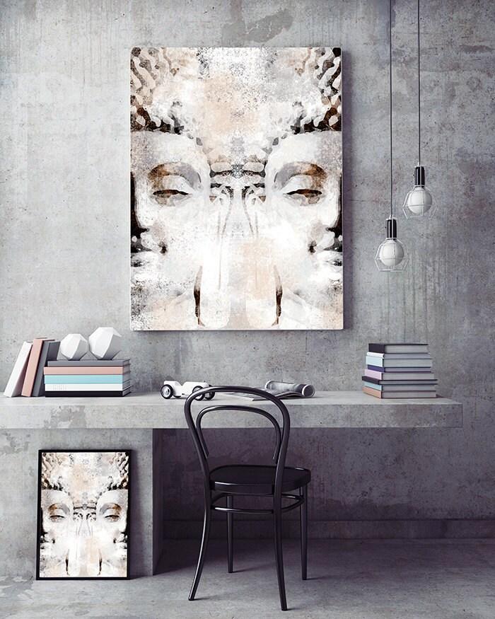 Buddha Beach Decor Contemporary: Buddha Head Modern Wall Decor Printable Art By NeroliDesign