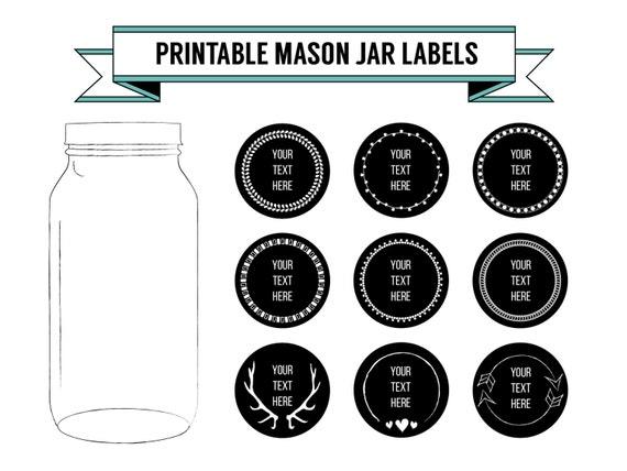printable diy chalkboard mason jar labels by elkgraphicdesign