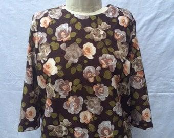 Floral blouse, vintage fabric