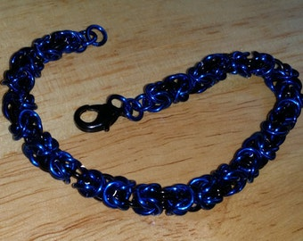 Byzantine Bracelet, Blue and Black