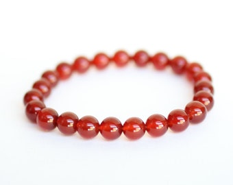 CARNELIAN Bracelet with Reiki Energy. Grounding Bracelet. Intuitive Protective Stress Relief abilities. Relieve fear. Root Chakra Balancer.