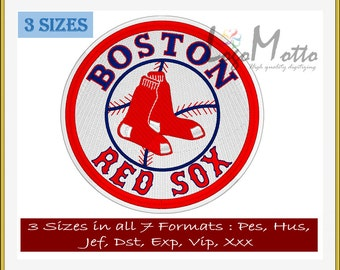 Boston RED SOX 2 EMBROIDERY designs Mlb Baseball logos