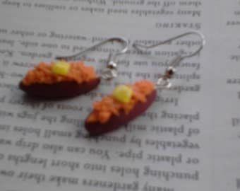 Sweet potato earrings