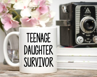 Teenage Daughter Survivor, Funny Dad Gift, Dad From Daughter, Gift From Daughter, Fathers Day Mug, Fathers Day Gifts, To dad From daughter