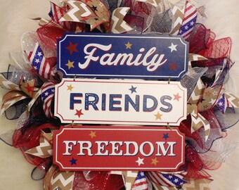 Fourth of July Wreath, Fourth Of July, 4th of July Wreath, 4th of July, July 4th Wreath, Fourth of July Decor