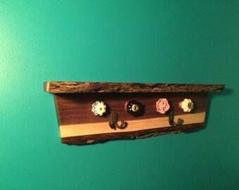 Live edge Jewelery Shelf