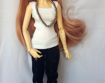 MSD 1/3 BJD star trousers and shirt (optional), slim MSD such as Minifee and Unoa